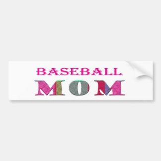 BaseballMom Car Bumper Sticker