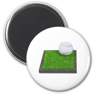 BaseballOnGrass102111 2 Inch Round Magnet