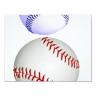Baseballs 4.25x5.5 Paper Invitation Card