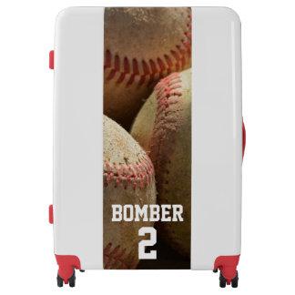 Baseballs and Glove Luggage