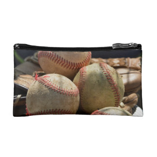Baseballs and Glove Makeup Bag