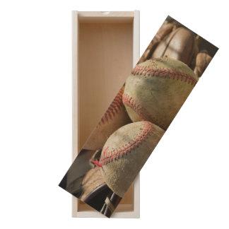 Baseballs and Glove Wooden Keepsake Box