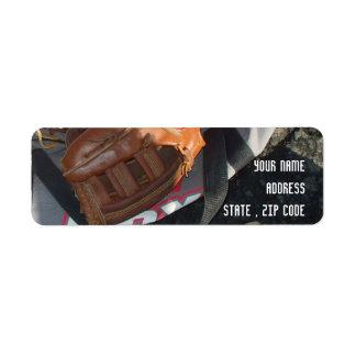 Baseballs and Mitts addresslabels Label