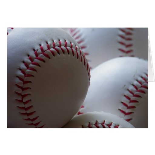 Baseballs Greeting Cards