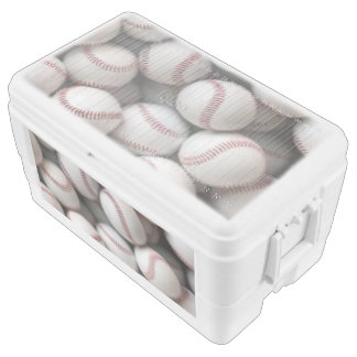 baseballs chest cooler