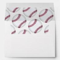 Baseballs Custom Envelope Liner