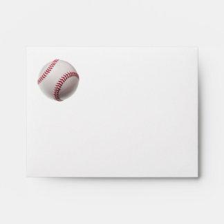 Baseballs - Customize Baseball Background Template Envelope