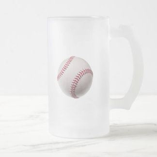 Baseballs - Customize Baseball Background Template Frosted Glass Beer Mug