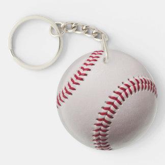 Baseballs - Customize Baseball Background Template Keychain