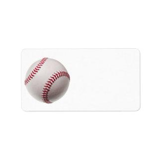 Baseballs - Customize Baseball Background Template Label