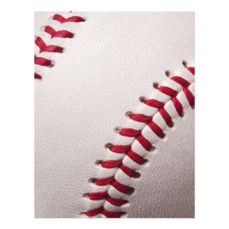 Baseballs - Customize Baseball Background Template Customized Letterhead