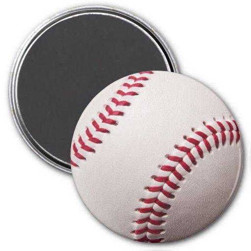 Baseballs - Customize Baseball Background Template Fridge Magnet