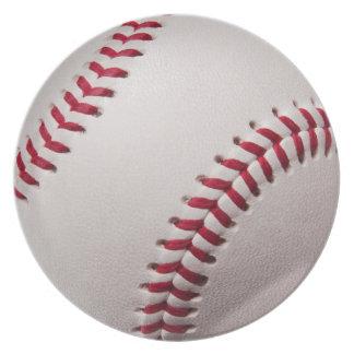 Baseballs - Customize Baseball Background Template Melamine Plate