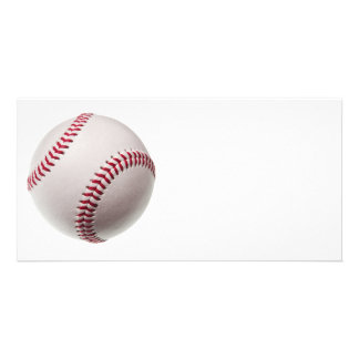 Baseballs - Customize Baseball Background Template Photo Cards