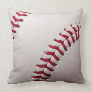 Baseballs - Customize Baseball Background Template Throw Pillows