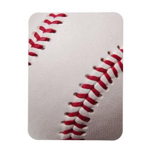 Baseballs - Customize Baseball Background Template Flexible Magnet