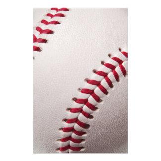 Baseballs - Customize Baseball Background Template Stationery Paper