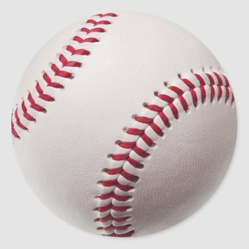 Baseballs - Customize Baseball Background Template Stickers