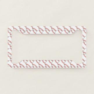 Baseballs Design License Plate Frame