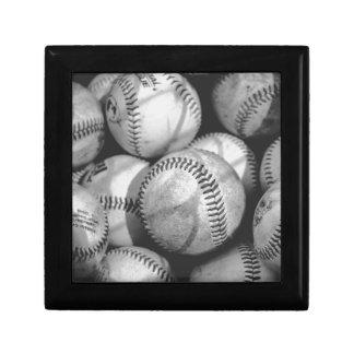 Baseballs in Black and White Gift Box
