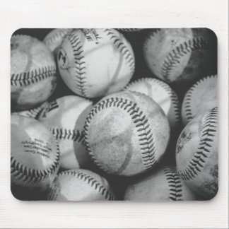 Baseballs in Black and White Mouse Pad
