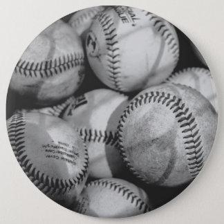 Baseballs in Black and White Pinback Button