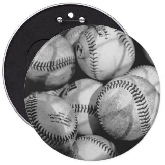 Baseballs in Black and White Pinback Button