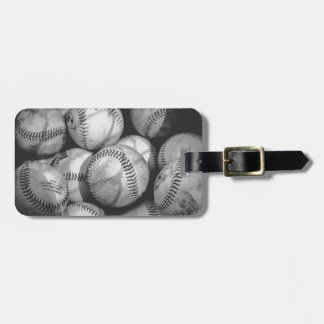 Baseballs in Black and White Tag For Luggage