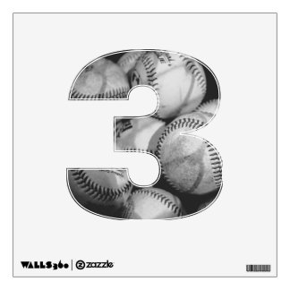 Baseballs in Black and White Wall Decal