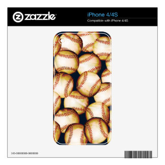BASEBALLS iPhone Skin iPhone 4S Decals