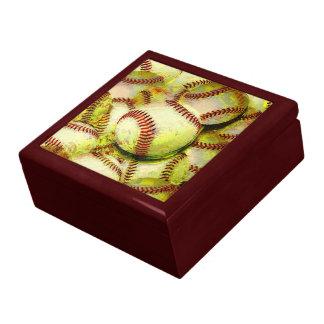 Baseballs Keepsake Jewelry Gift Box