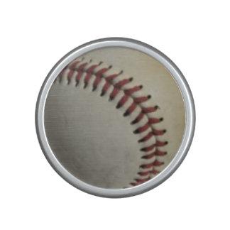 Baseballs on Red Checkerboard Background Speaker