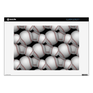 "Baseballs Pattern 13"" Laptop Skins"