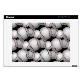 """Baseballs Pattern 13"""" Laptop Skins"""