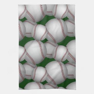 Baseballs Pattern Kitchen Towel