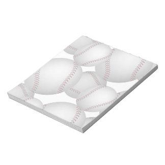 Baseballs Pattern Memo Note Pad
