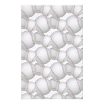 Baseballs Pattern Stationery