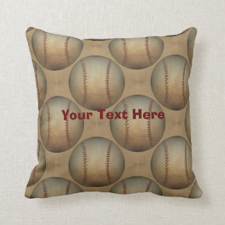Baseballs Personalized Throw Pillow