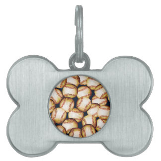 BASEBALLS PET NAME TAG