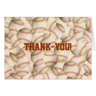 Baseballs Thank-you Notecards Card