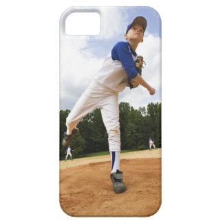 Basebol de jogo hace novo del jarro hace el monte iPhone 5 Case-Mate funda