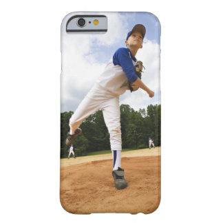 Basebol de jogo hace novo del jarro hace el monte funda de iPhone 6 barely there