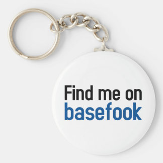 Basefook Basic Round Button Keychain