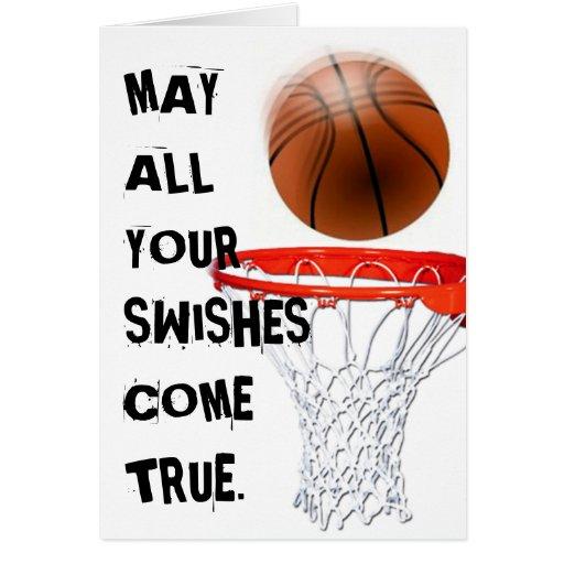 BASEKETBALL BIRTHDAY GREETING CARD