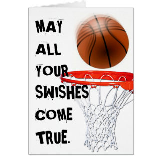 BASEKETBALL BIRTHDAY GREETING GREETING CARD