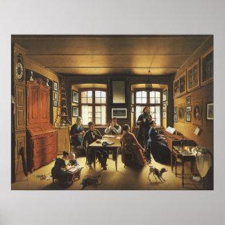 Basel Family Concert by Gutzwiller, Victorian Art Poster