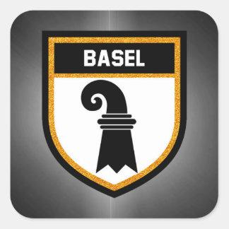 Basel  Flag Square Sticker