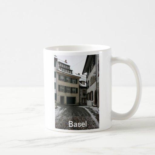 Basel in winter, Switzerland Coffee Mugs
