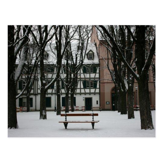 Basel in winter, Switzerland Postcard