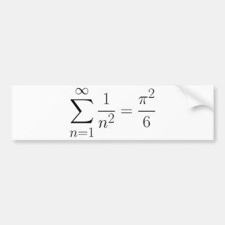 Basel problem bumper sticker
